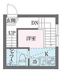 東京都江東区南砂2丁目の賃貸アパートの間取り