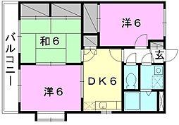ユーミーAOKI A棟[501 号室号室]の間取り