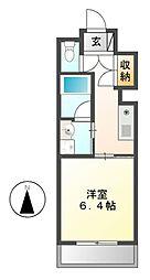 Ceres鶴舞(旧第2三恵ハイツ)[4階]の間取り