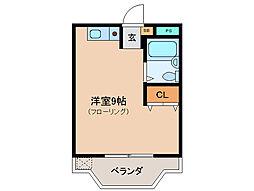 ビビュール・ピュイ 2階ワンルームの間取り