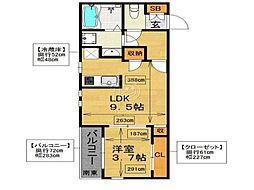 [テラスハウス] 福岡県福岡市中央区六本松 の賃貸【/】の間取り