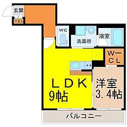 (仮称)幸心2丁目新築アパート A棟[3階]の間取り