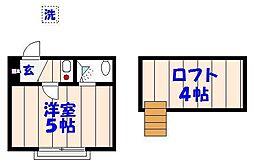 ドールハウス[A202号室]の間取り
