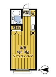 東京都狛江市元和泉1丁目の賃貸アパートの間取り
