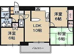 グラントピア新大阪[11階]の間取り