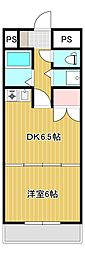 JR身延線 常永駅 徒歩17分の賃貸マンション 1階1DKの間取り