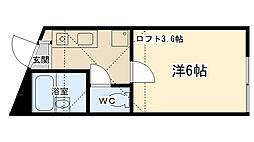 神奈川県相模原市南区古淵5丁目の賃貸アパートの間取り