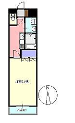 メゾンドコア2番館 305[3階]の間取り