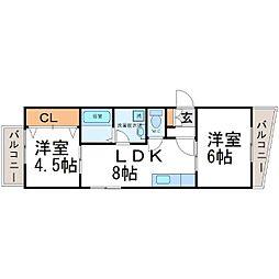 プラマー1番館[1階]の間取り