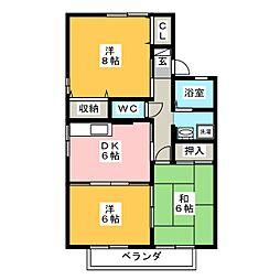 アーバンライフ豊川 B棟[2階]の間取り