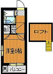 パレス竹越[2階]の間取り
