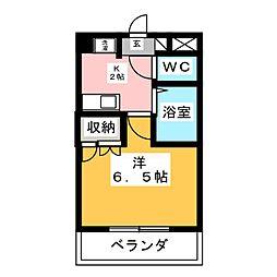 STUDIO SHIROGANE[2階]の間取り