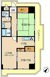 メゾンイヤサカ[4階]の間取り