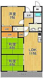 武庫之荘コロニー[4階]の間取り