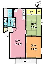 カーサ光II[2階]の間取り