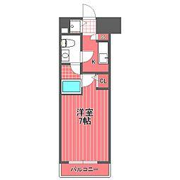 メジャーランド横濱鶴見[4階]の間取り
