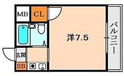 ダモールFUKUI[3階]の間取り