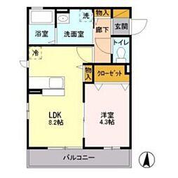 アヴェニール新川崎[0203号室]の間取り