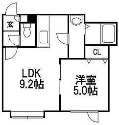 マンションK[103号室]の間取り
