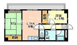 ブリード垂水[3階]の間取り