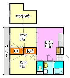 サンライズ津田沼I[2階]の間取り