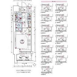 名古屋市営東山線 亀島駅 徒歩3分の賃貸アパート 3階1Kの間取り