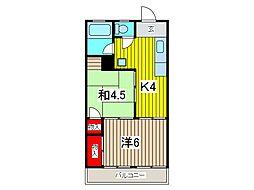 マンション吉川[3階]の間取り