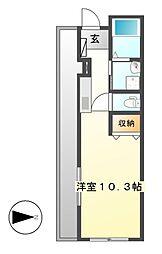 ラフィナート幡野[3階]の間取り