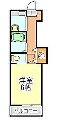 千葉県千葉市中央区白旗2丁目の賃貸マンションの間取り