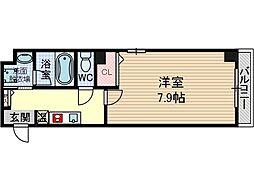 アネシスフナキ[1階]の間取り