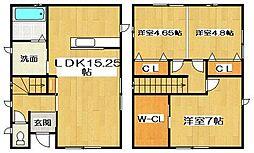 [一戸建] 徳島県徳島市川内町米津 の賃貸【/】の間取り
