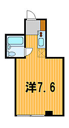 神奈川県横浜市神奈川区反町2丁目の賃貸マンションの間取り