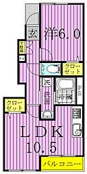 グリーンヒル永楽台[1階]の間取り