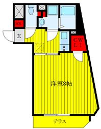 東京メトロ南北線 王子神谷駅 徒歩6分の賃貸マンション 1階1Kの間取り