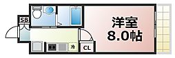 Osaka Metro中央線 緑橋駅 徒歩7分の賃貸マンション 10階1Kの間取り