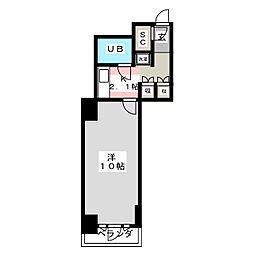 パークタワー台原[3階]の間取り