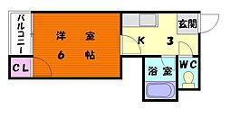 ドリームパレス香椎Ⅱ[1階]の間取り