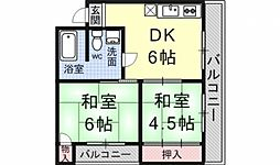 ロイヤルマンション[201号室号室]の間取り