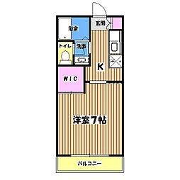 メルベーユC棟[2階]の間取り