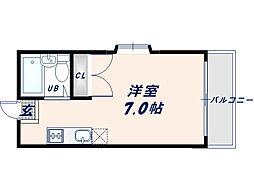 大阪府東大阪市中小阪5丁目の賃貸アパートの間取り