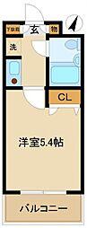 東京都町田市金森東3丁目の賃貸マンションの間取り