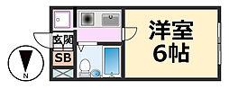 ピュア住江[405号室号室]の間取り