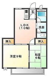 ソレイユ21 A棟[2階]の間取り