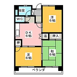 星ヶ丘ハイツ[3階]の間取り