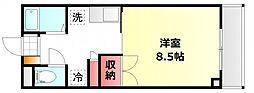 岡山県岡山市北区東古松1丁目の賃貸マンションの間取り