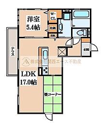 ルナピエーナA棟[1階]の間取り