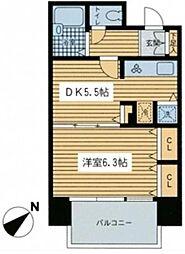 ヴィーダ日本橋イースト[203号室]の間取り