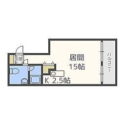 北海道札幌市中央区南一条西22丁目の賃貸マンションの間取り