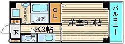 大阪府堺市中区深阪6丁の賃貸マンションの間取り