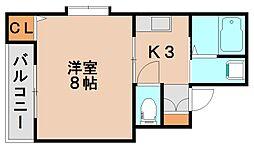 福岡県春日市大和町3丁目の賃貸アパートの間取り